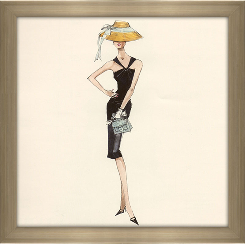 Barbie™ in Black Dress with Straw Hat