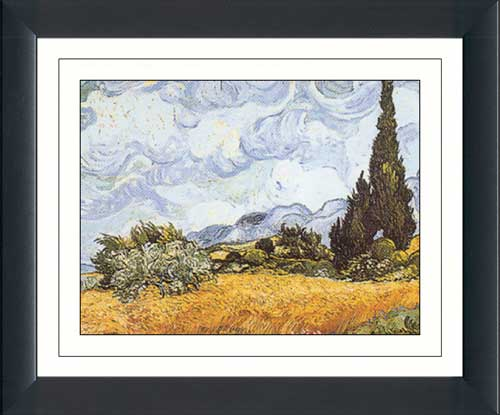 Field with Cypresses