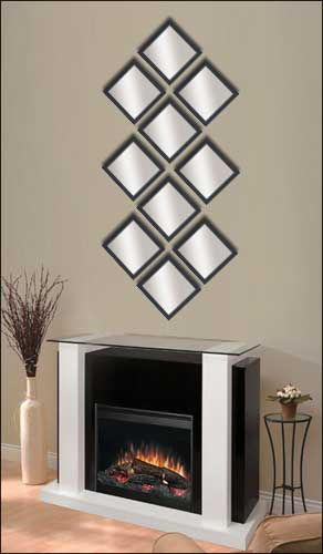 10 Decorative Mirrors in Black Frame