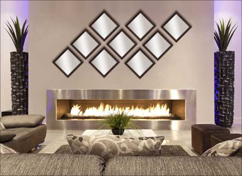 9 Decorative Mirrors in Brown Frame