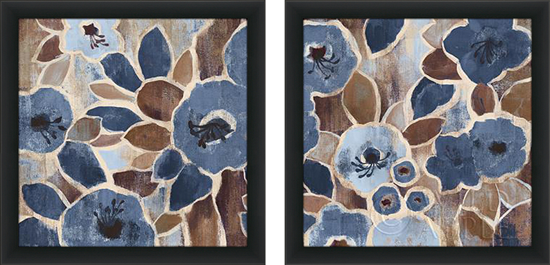 Contemporary Tapestry Blue I