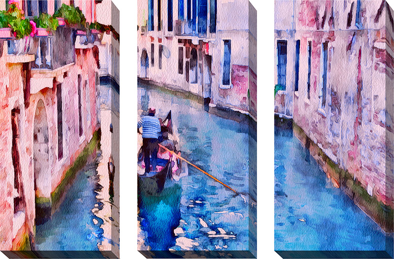 Venice Canals Watercolor XII