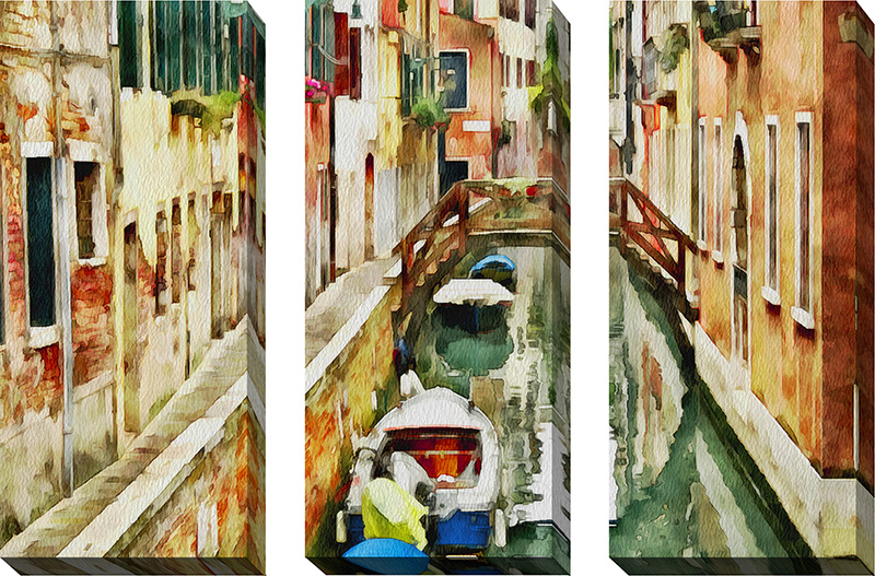 Venice Canals Watercolor XXI