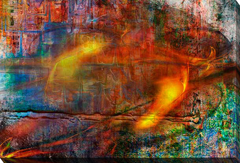 Colorful Fire Abstract